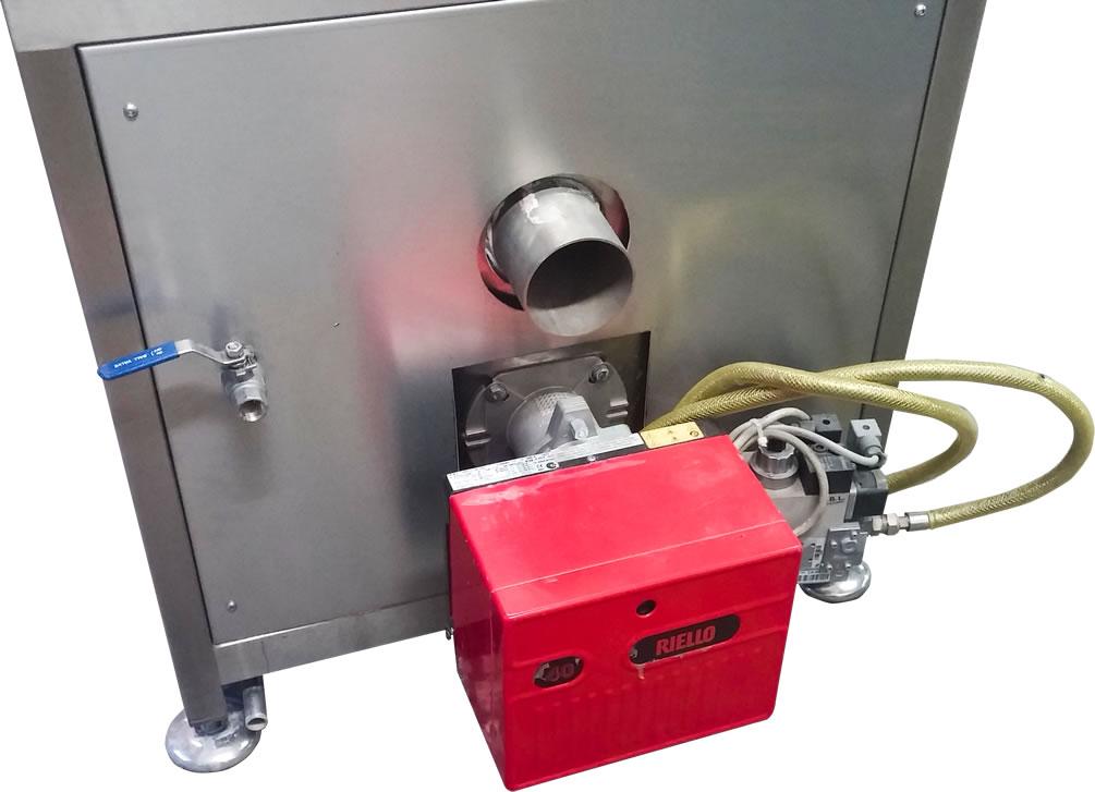Autoclave orizzontale con generatore di vapore